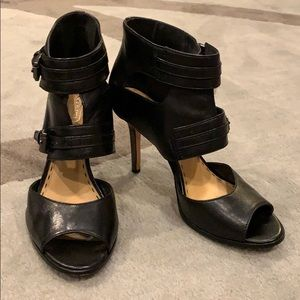 Coach black leather sandals, size 8